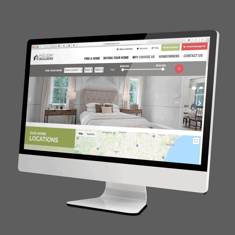 Desktop Mock up | Holiday Builder