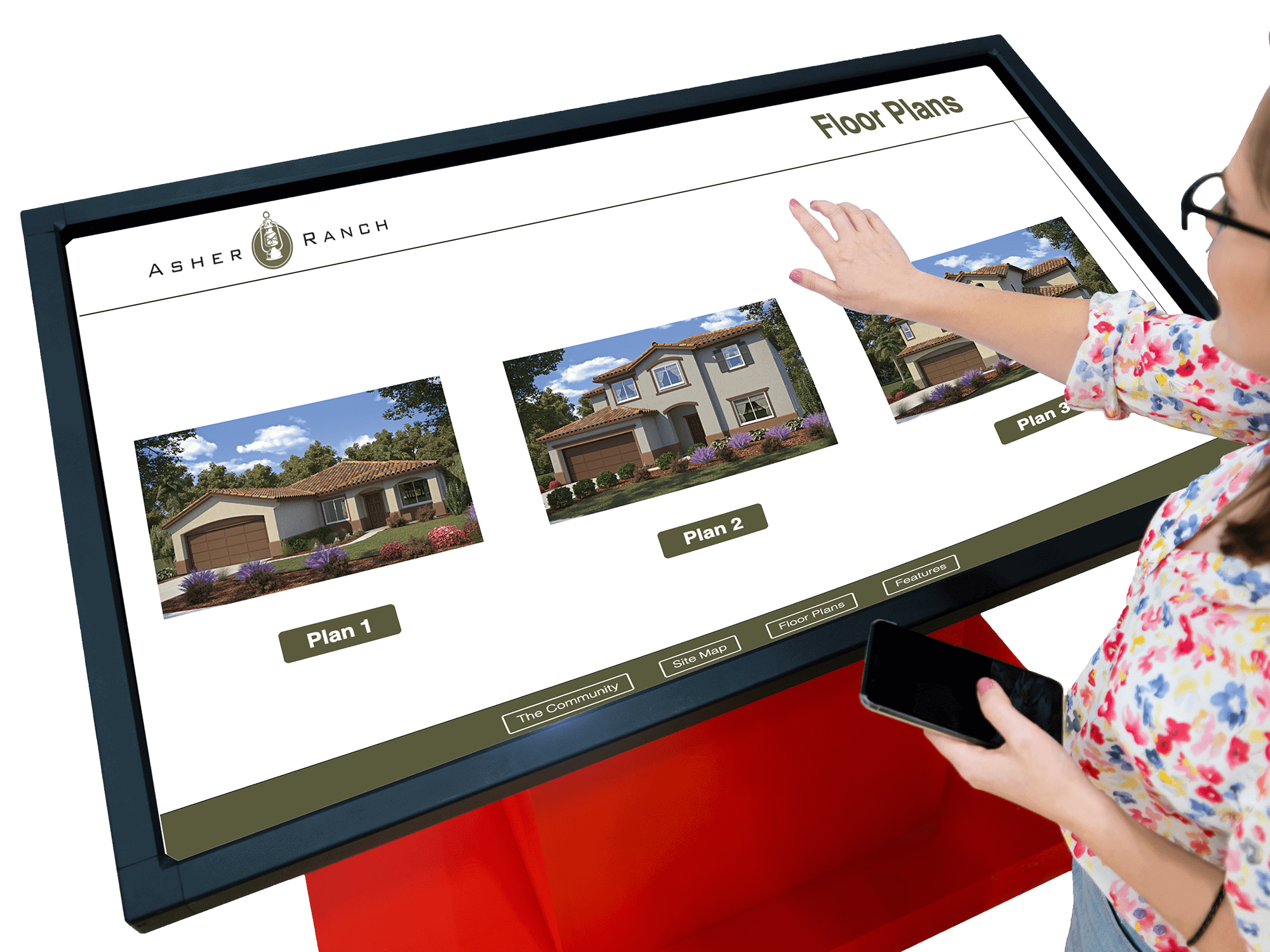interactive sales office - Asher ranch