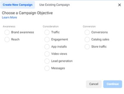 Chose Campaign Objective