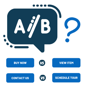 A/B Button Test Example